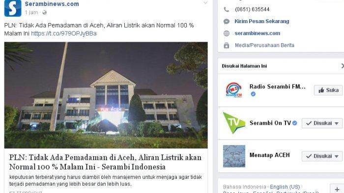 PLN Bilang tak Ada Pemadaman di Aceh, Netizen Mencak-mencak