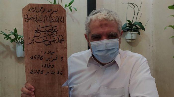 Nisan Syekh Ali Jaber Ditulis Tangan oleh Syekh Beleid, Kaligrafer Internasional Bersanad Rasulullah