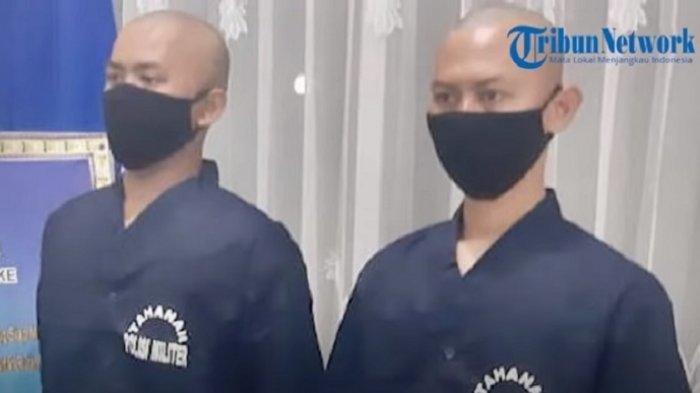 2 Oknum TNI AU yang Aniaya Warga Merauke Diproses Hukum, Pakai Baju Tahanan dengan Kepala Botak