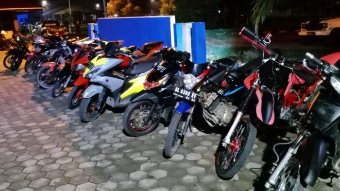 Belasan Sepeda Motor Diamankan dalam Operasi Keselamatan Seulawah 2021 di Simeulue