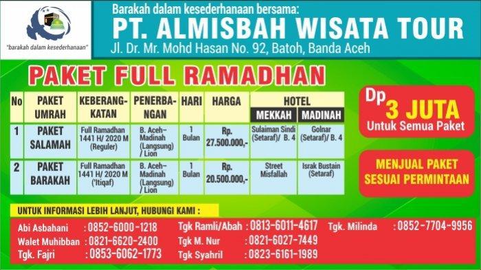 Paket Umrah PAKET FULL RAMADHAN dan PROMO ZULHIJJAH PT. ALMISBAH WISATA