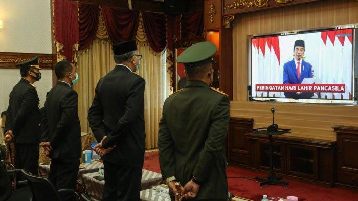 Perdana, Presiden Jokowi Pimpin Peringatan Hari Lahir Pancasila secara Daring Diikuti Plt Gubernur