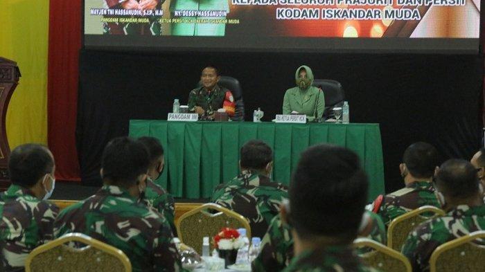 Pangdam IM Mayjen TNI Hassanudin Pamitan dengan Keluarga Besar Kodam IM, Begini Suasananya