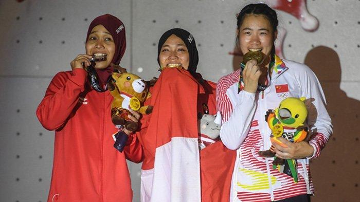 Update Perolehan Medali Asian Games 2018 Panjat Tebing Sumbang Empat Medali Serambi Indonesia