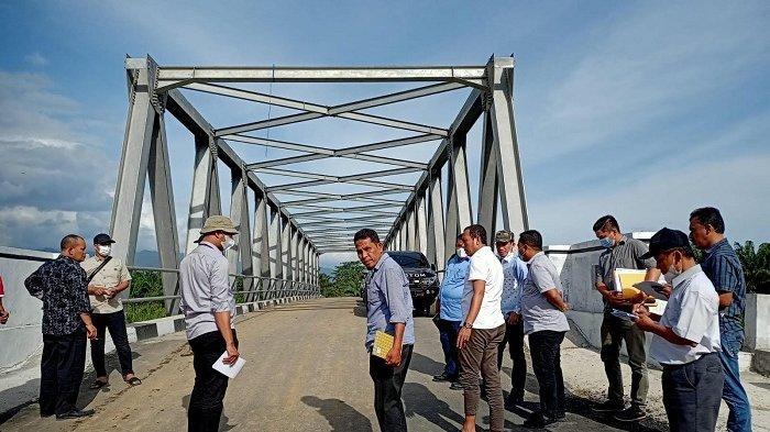 Pansus DPRA Kembali Kunjungi Jembatan Krueng Teukuh Abdya, Tujuannya untuk Pastikan Hal Ini