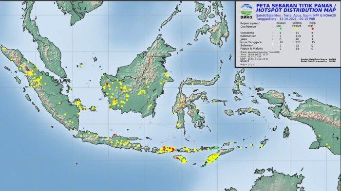 Sore Ini, Terpantau Lima Titik Panas di Aceh, Ini Lokasinya