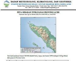 Sore Ini, Terpantau 13 Titik Panas di Aceh, Terbanyak di Bener Meriah