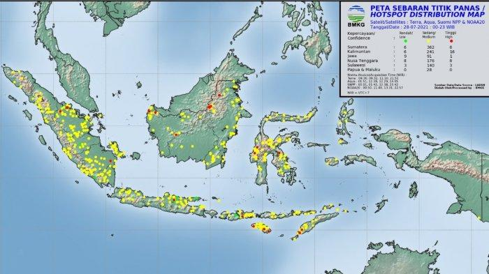 Hari Ini Terpantau Enam Titik Panas di Aceh, Berikut Sebaran Lokasinya