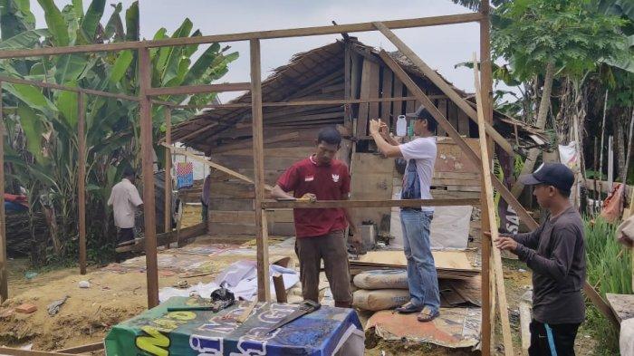 GPSB Kota Langsa Bangun Rumah Pemulung, Baleum Saudara Bantu Sembako