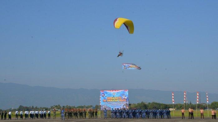 Danlanud SIM Pimpin Peringati HUT Ke-75 TNI Angkatan Udara, Ikut Dimeriahkan Para Motor