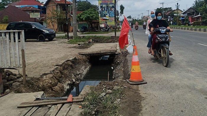 Sering Banjir, Parit di Dusun Tengah Aceh Tamiang Ternyata Dicor
