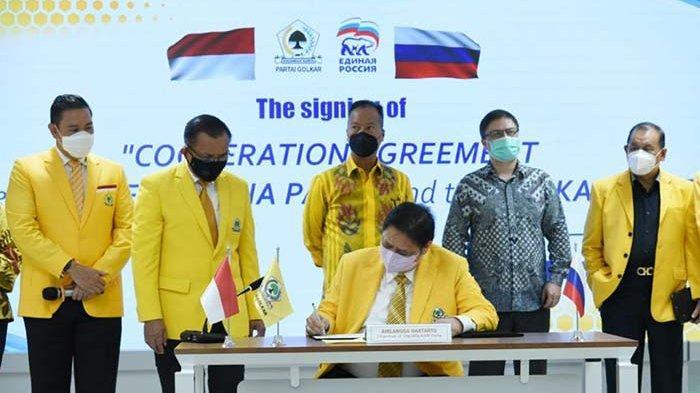 Partai Golkar-United Russia Party Teken Kerja Sama Bilateral di Berbagai Sektor