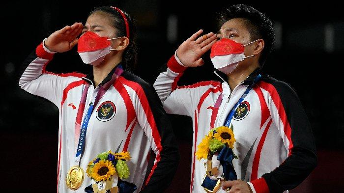 Greysia/Apriyani Raih Emas Olimpiade Tokyo dan Cetak Sejarah, Lagu Indonesia Raya Menggema di Jepang