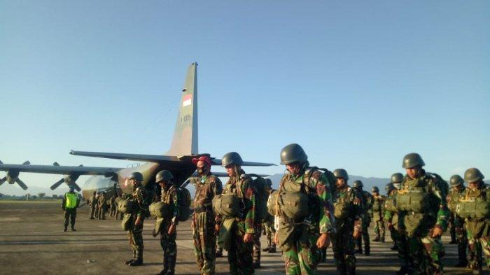 75 Prajurit Korps Paskhas TNI AU Lakukan Terjun Statik dan Free Fall di Lanud SIM Blangbintang