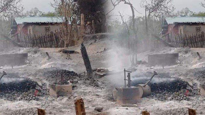 Sebuah Desa di Myanmar Dibakar Pasukan Junta, 2 Lansia Tewas Terbakar