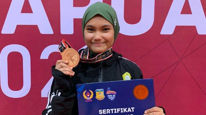 Elvanda Raih Medali di Cabor Anggar PON Papua 2021, Jadi Perunggu Pertama di Nomor Sabel Putri