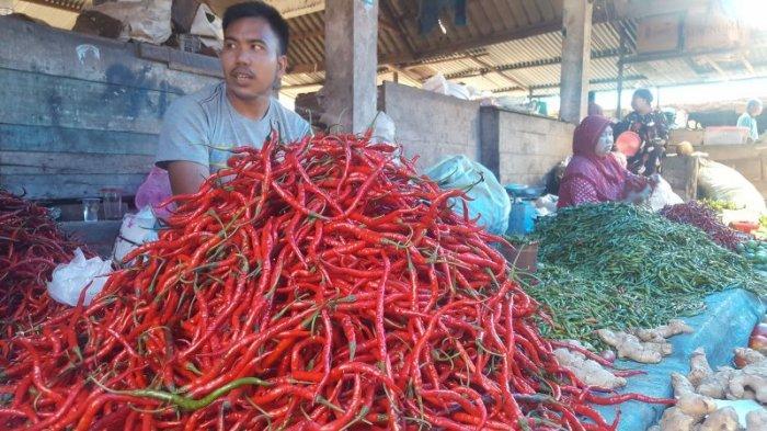 Harga Cabai Merah di Tapaktuan Rp 30 Ribu Per Kilogram,Bumbu Dapur dan Sayur Mayur Lainnya Stabil