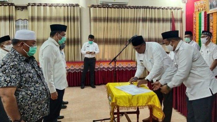 Puluhan Pejabat Dikukuhkan, Bupati Aceh Singkil: Jangan Mencoreng Pemerintahan Kami