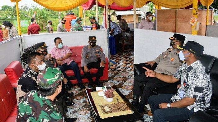 Kasus Covid-19 Meningkat,Forkopimda Aceh Timur Tinjau Posko PPKM