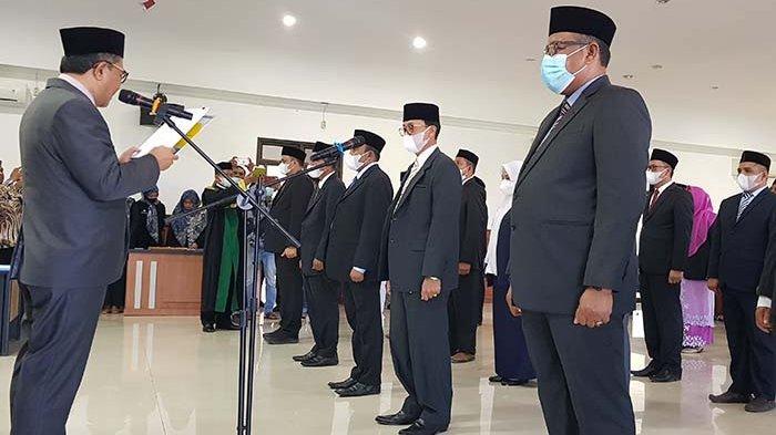 45 Pejabat Pidie Jaya Dilantik, Eddy Azwar Jabat Kadinkes, Orizal Safitri Jadi Kepala PU
