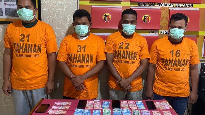 4 Pejudi Online Ditangkap, Polisi Sita 174 B Chip dan Uang Tunai Jutaan Rupiah