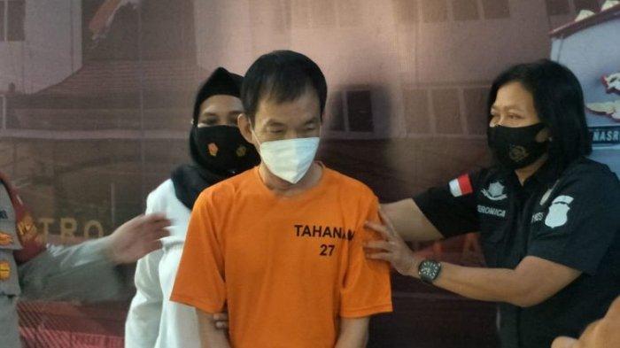 Unit PPA Satreskrim Polres Metro Jakarta Utara menangkap pelaku pelecehan seksual 2 karyawati di sebuah perusahaan di kawasan Ancol. Kasus tersebut dirilis di Polres Metro Jakarta Utara, Selasa (2/3/2021).(KOMPAS.COM/ IRA GITA)