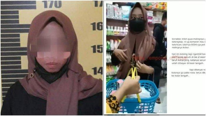 Gadis Ini Ketahuan Curi Kosmetik, Ditangkap dan Diserahkan ke Polisi, Begini Nasibnya
