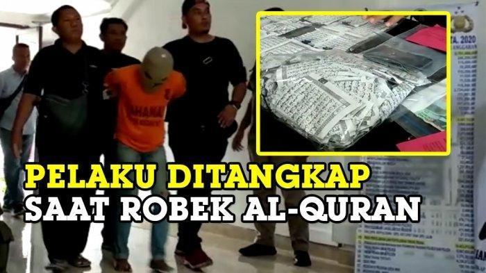 Pria Ini Ditangkap saat Merobek Al-Quran di Masjid Raya, Kuli Bangunan Ini Sudah Sering Beraksi