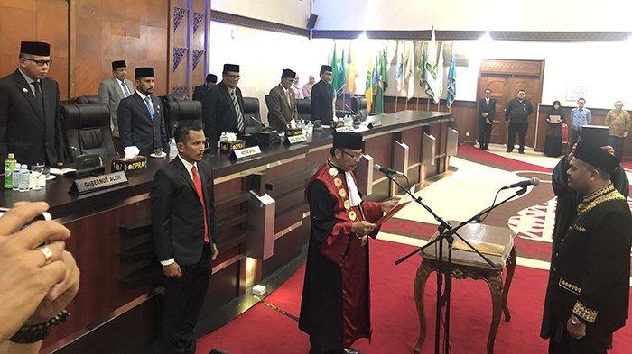 Dilantik Ketua Pengadilan Tinggi, Sulaiman Resmi Jabat Ketua DPRA