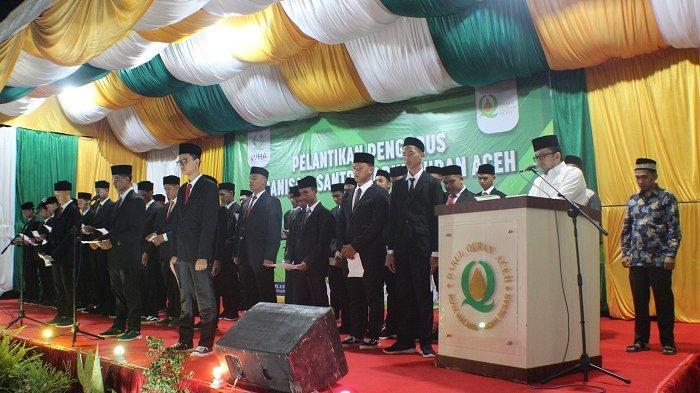 Pengurus Organisasi Siswa Darul Quran Aceh Dilantik, Ini Susunan Pengurusnya