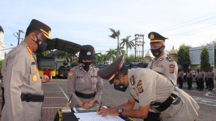 Sejumlah Pejabat Polresta Banda Aceh dan Jajaran Dilantik, Ini Pesan Kapolresta Saat Pelantikan