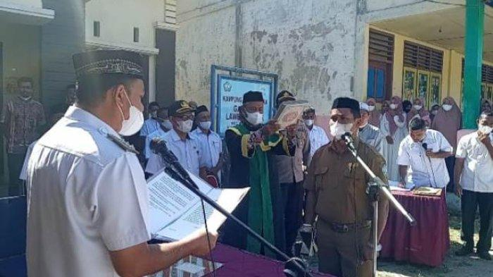 Muhammad Rusli Dilantik sebagai Pj Keuchik Lawe Cimanok Aceh Selatan, Ini PesanCamat Kluet Timur