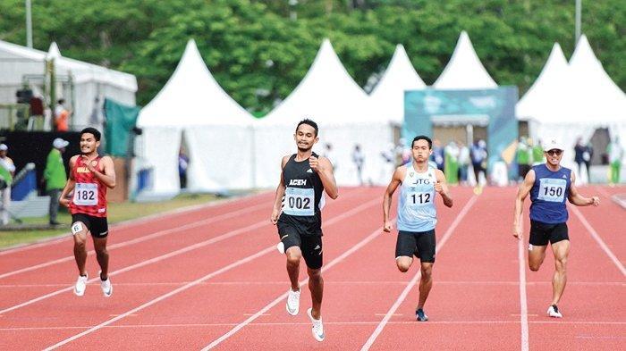 Catat Waktu Terbaik, Pelari Aceh Lolos ke Final 400 Meter Putra