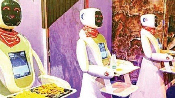 Pelayan Robot Mulai Dioperasikan di Restoran Arab Saudi