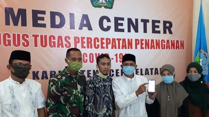 Pantau Pandemi, Tgk Amran Launching Penggunaan Aplikasi P-Covid-19 Buatan Poltas
