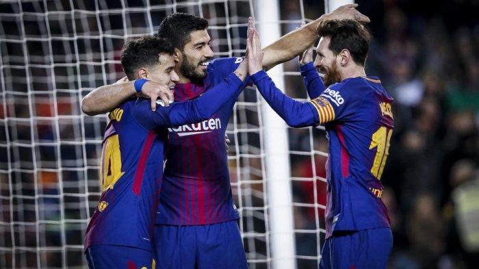 VIDEO - Pemain Muda Barcelona Egoistis, Suarez Batal Bikin Gol