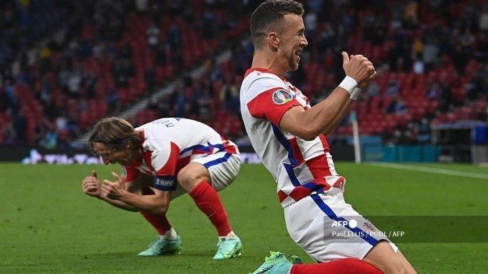 Hasil Euro 2020 - Gol Tendangan Gledek Luka Modric Bawa Kroasia Dampingi Inggris ke 16 Besar