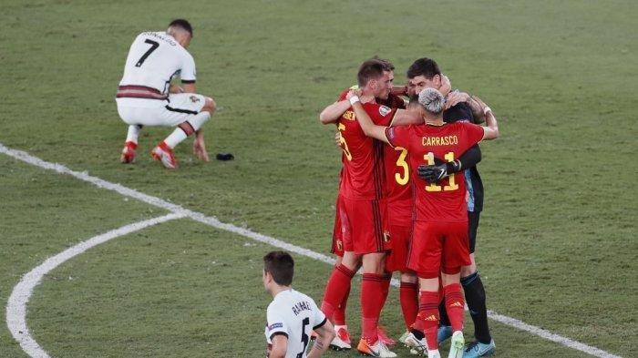 Hasil Euro 2020 - Pemain Portugal Menangis Dalam Ruang Ganti Setelah Disingkirkan Belgia