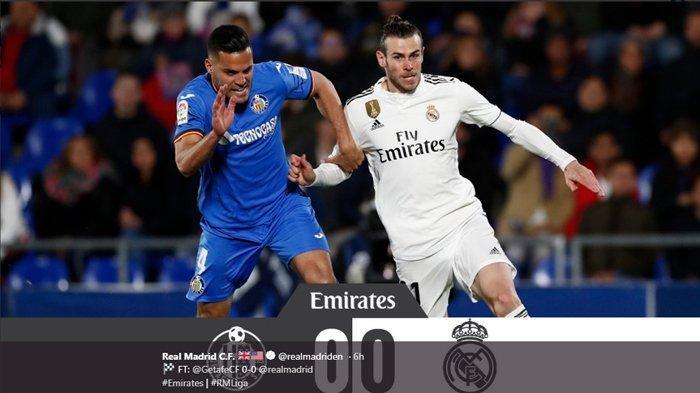Hasil Liga Spanyol - Real Madrid Ditahan Imbang Getafe, 7 Pemain Bernilai 5 Triliun Jadi Cadangan