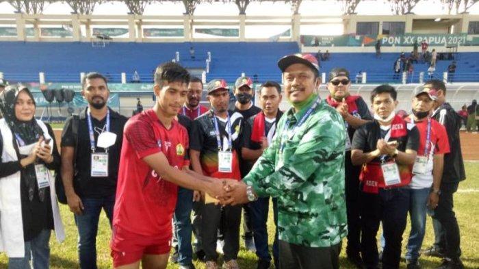 Lolos ke Babak Enam Besar PON Papua 2021 Usai Taklukkan Kaltim, Pemain Sepakbola Aceh 'Banjir' Bonus