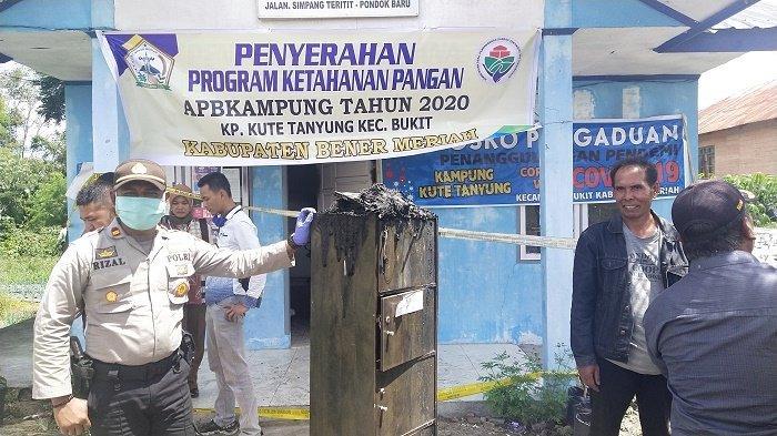 Polisi Periksa 7 Saksi Terkait Pembakaran Kantor Reje Kute Tanyung, Bukit, Kabupaten Bener Meriah