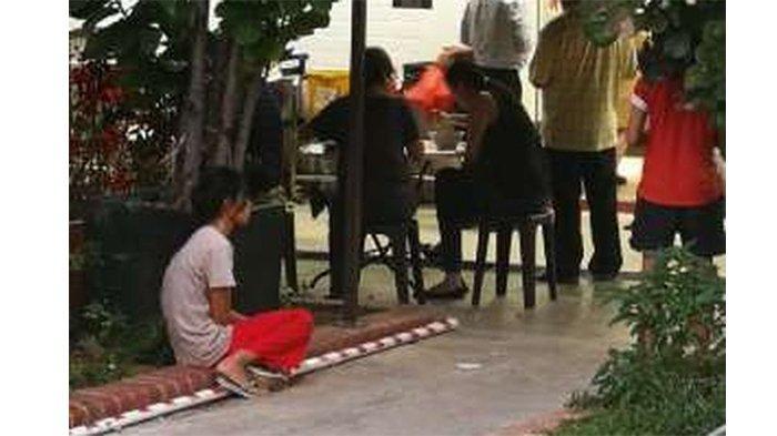 Viral, Pembantu Duduk di Trotoar Menunggu Majikannya yang Sedang Makan, Diperlakukan Seperti Hewan
