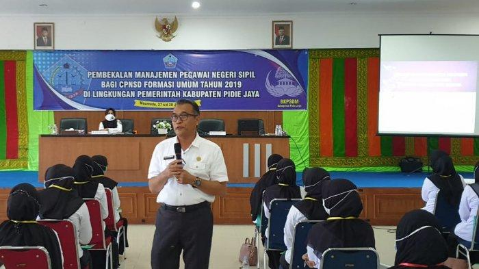Pemkab Pidie Jaya Bekali 114 CPNS yang Dinyatakan Lulus Sebelum Diserahkan SK