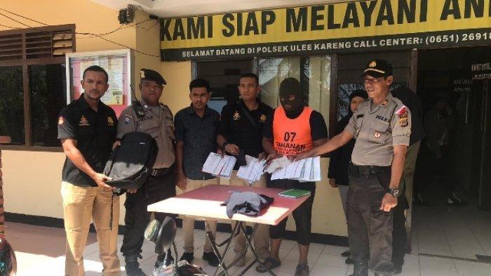 Buat Laporan Palsu, Pekerja di Toko Bangunan Ditahan di Polsek Ulee Kareng