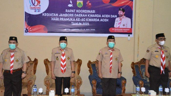 Wakil Wali Kota Langsa Marzuki Hamid Buka Rakor Pramuka Kwarda Aceh, Ini Pesertanya