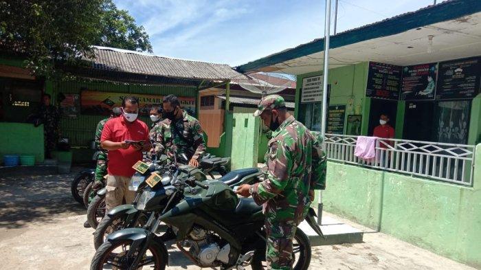 Kurangi Pelanggaran, Kodim Aceh Utara Cek Kendaraan Dinas Babinsa