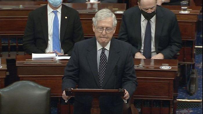 Pemimpin Partai Republik di Senat Nilai Trump Sudah Tepat Dimakzulkan, Tak Dapat Dimaklumi Lagi