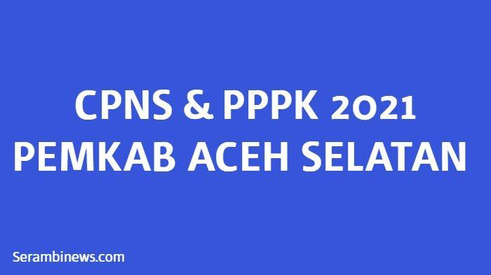 Sepi Peminat, Ini Rincian Kebutuhan Formasi CPNS dan PPPK Pemkab Aceh Selatan, Cek Syaratnya