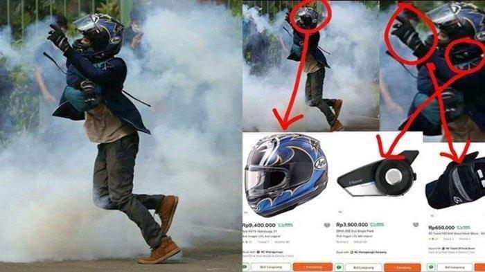 VIRAL Anak Sultan Ikut Demo Tolak UU Cipta Kerja, Harga Helm Jadi Sorotan, Total Outfit Puluhan Juta