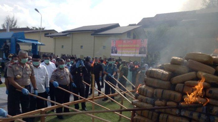 Polda Aceh Musnahkan Sabu dan Ganja, Jumlahnya Mencapai Ratusan Kilogram